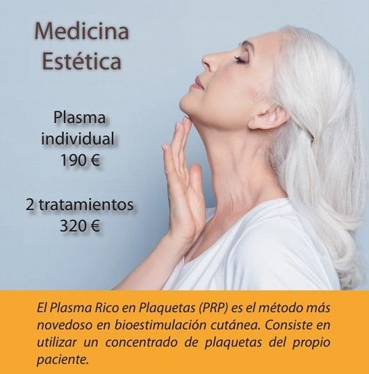 Promoción Plasma Rico en Plaquetas Rejuvenecimiento Facial Barcelona